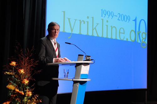Bundespräsident Horst Köhler bei der Eröffnung der Festwoche zu 10 Jahre lyrikline.org