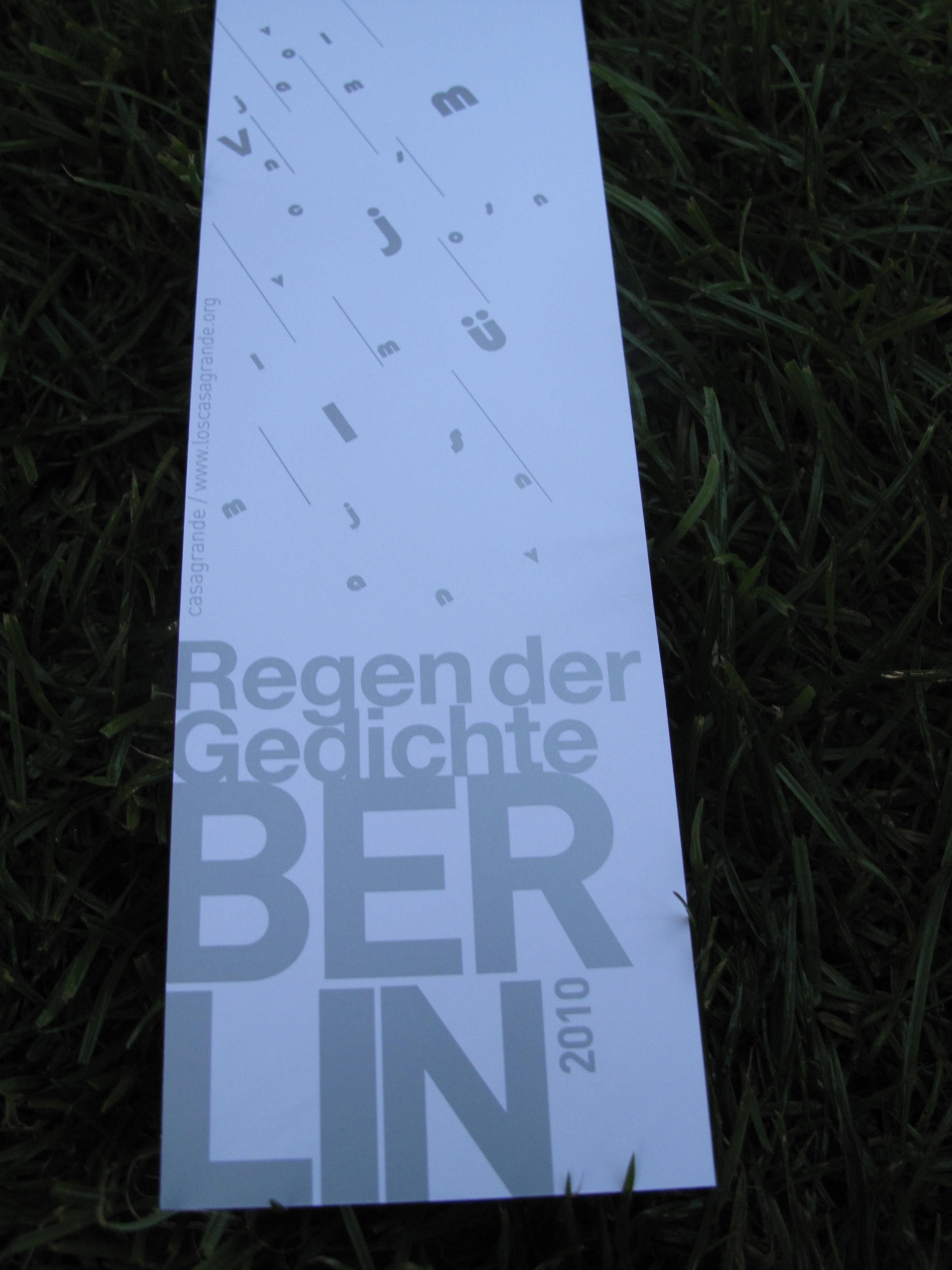 Poetry Rain In Berlin Lyrikline Blog
